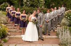 @Karen Jeannotte - gray tuxes and purple dresses!!