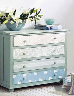 Diy Baby Room Möbel Schubladen Ideen You are in the right place about baby room decor owls Here we offer you the … Decoupage Furniture, Refurbished Furniture, Repurposed Furniture, Furniture Projects, Furniture Makeover, Vintage Furniture, Painted Furniture, Baby Room Furniture, Kids Furniture