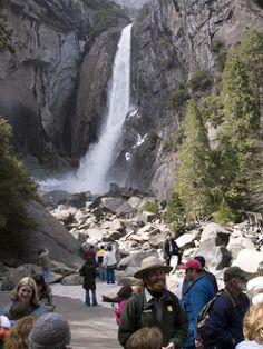 "Day hike to North America's tallest waterfall at Yosemite National Park. Learn more about this and other great trails in ""Best Sights to See at America's National Parks"": http://www.amazon.com/Sights-Americas-National-Parks-Hittin-ebook/dp/B018W7Y288"