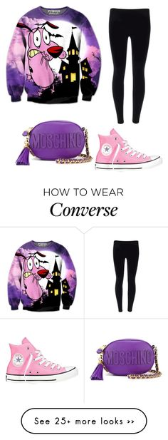 """Trending 629"" by ayannap on Polyvore featuring Converse and Moschino"