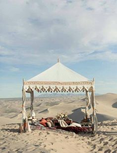 Exotic Middle Eastern Wedding Ceremony Locale In The Desert****