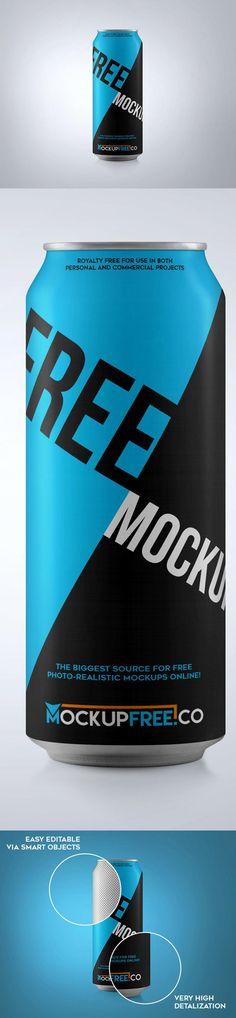 Free Tall Soda Can PSD Mockup   The Creative Feed