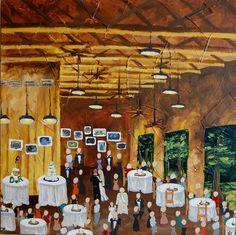 Live Event Painting | Color Me Nola  | Kristy Oustalet | Weddings | New Orleans | Baton Rouge | Venue: Audubon Swamp Room
