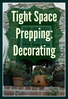 Do you struggle with finding space for all your preps in tight space? If so, these decorating ideas are for you. - Survival Mom