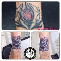 #Coverup #Tattoo #before #tribaltattoo #after #rose #rosetattoo #ink #flowertattoo#black #shade #tattooartist #ladyoktopus