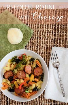 Tri-color Rotini and Chorizo Recipe #EsPossibleConBarilla #LatinaBloggers #FoodPorn