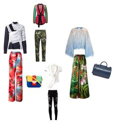 """Tropical Print..**"" by yagna ❤ liked on Polyvore featuring Valentino, EA7 Emporio Armani, Just Cavalli, F.R.S For Restless Sleepers, Marco de Vincenzo, 3.1 Phillip Lim, Loewe, Balmain, Building Block and Sara Battaglia"