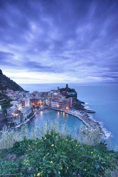 Before Sunrise in Vernazza, Italy, La Spezia Liguria
