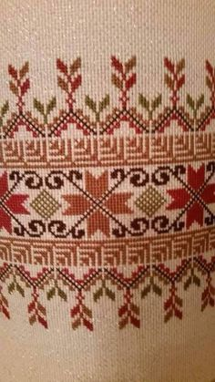 This post was discovered by NALAN. Discover (and save!) your own Posts on Unirazi. Cross Stitch Borders, Cross Stitch Charts, Cross Stitch Designs, Cross Stitching, Cross Stitch Patterns, Folk Embroidery, Cross Stitch Embroidery, Embroidery Patterns, Palestinian Embroidery