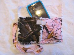 Pink Realtree Camo and Realtree Camo Clutch bag Pink camo Cell Phone Case  Pink Camo Wristlet Gift for Girls Gift For Her by morethanbearscrafts on Etsy