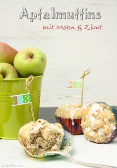 Apfelmuffins mit Mohn und Zimt
