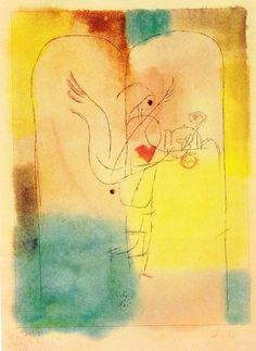 Paul Klee, Ange servant un petit déjeuner léger, 1920. Lithographie, 19,8 x 14,6 cm on ArtStack #paul-klee #art