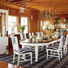 Nautical Dining Room Decor | Photo: Tria Giovan, Writer: Brett Bralley