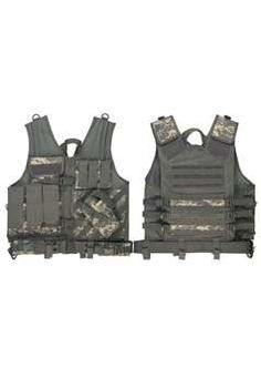 Army Digital Camouflage Cross Draw Tactical Vest - 6598