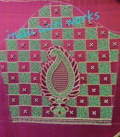 Aari Work Blouse, Hand Embroidery Design Patterns, Simple Blouse Designs, Sleeve Designs, Pattern Design