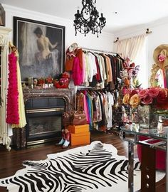 Olivia Palermo Uses Her Closet To Showcase Her Love Of Fashion AND Home Decor.