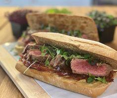 Steak sandwich | Συνταγή | Argiro.gr Finger Food Appetizers, Finger Foods, Appetizer Recipes, Food Categories, Steak, Sandwiches, Tasty Food Recipes, Finger Food, Starter Recipes