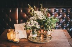 rustic flowers pub wedding relaxed