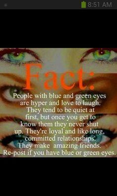 Who else got blue eyes? x