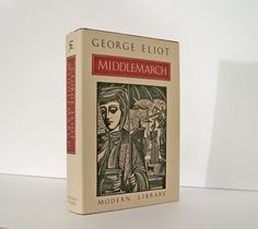 """Middlemarch"" by George Eliot. Vintage Modern Library Book Issued through the Book of the Month Club Issue (BOMC) 1984. Dust-Jacket has a Woodcut by Stephen Alcorn. For sale by Professor Booknoodle $15.00 USD"