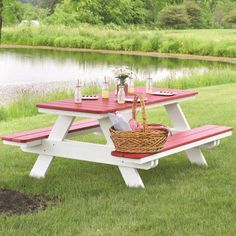 Shop this berlin gardens recycled plastic x rectangular picnic table with umbrella hole from our top selling Berlin Gardens picnic tables. PatioLiving is your premier online showroom for patio tables and high-end outdoor furniture. Picnic Table With Umbrella, Outdoor Picnic Tables, Kids Picnic Table, Backyard Picnic, Garden Picnic Bench, Rooftop Patio, Garden Table, Patio Table, Balcony Garden
