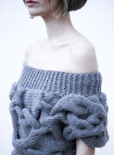 Beautiful Knitted Sweater AQUA short sleeves sweater by NihanAltuntas on Etsy