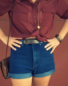 High waisted jean shorts  www.greetingsfromtx.com