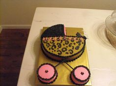 Baby shower cake/ Leopard print with hot pink/all done in buttercream in cakes by Cindy Turner