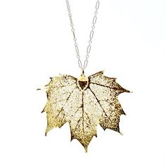 Sugar Maple Necklace--Gold Leaf