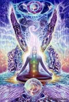 """""""Die weibliche Energie ist enorm leistungsfähig, und wir würden ohne seine Anwesenheit nicht hier sein. Doch so lange die Kraft des Weiblichen ist in der Psyche und Haltung auf der Erde gefürchtet und unterdrückt. Die weibliche stellt den Filz und die unsichtbare Welt. Die weibliche Kraft ist Erziehung, Kreativität, Intuition und Herz-zentriert leben und zu lieben."""