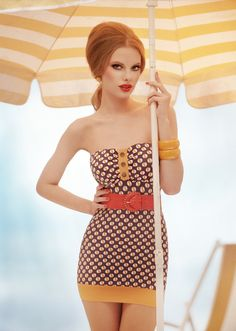This seems to be from a gorgeous retro editorial. I don't know which one it is though!