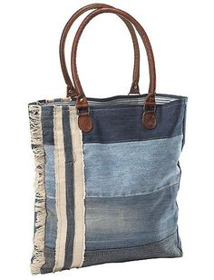 Love this denim upcycled bag