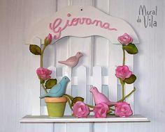 Guirlanda, ideias de mimos com biscuit