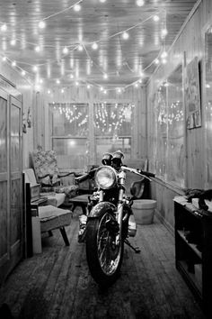 When I met my husband his mother let him keep his motorcycle in the dining room over winter....that didn't happen after we were married.