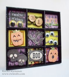 DCWV - Spooky Time stack - Halloween shadow box