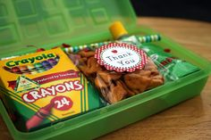 Back to school party favor boxes #backtoschool #partyfavors