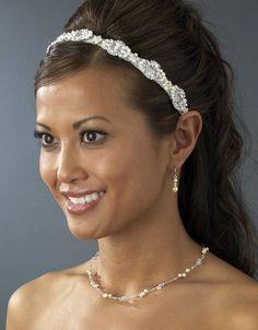 Satin Ribbon Wedding Headbands, Bridal Hair Accessories