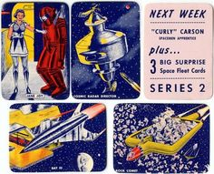 1950'S Skelly All-American Space Fleet Cards.