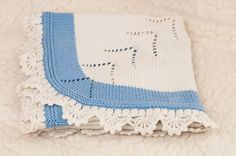 Hand Knitted baby blaket,  Baby shower gift, Made to order.
