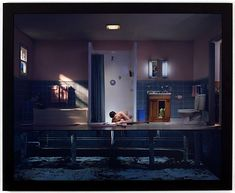 LOVE THIS WORK! Gregory Crewdson (USA) Photo: Gregory Crewdson, Untitled (Boy with Hand in Drain), color coupler print, edition of 48 x 60 in x cm). Courtesy the artist and Christie's. (c) Gregory Crewdson Narrative Photography, Cinematic Photography, Fine Art Photography, Conceptual Photography, Coffee Photography, Photography Gallery, Contemporary Photography, Documentary Photography, Portrait Photography