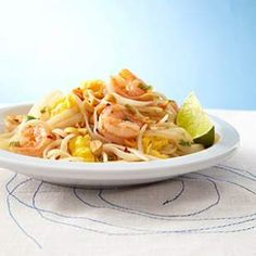 Shrimp Pad Thai from Eating Well {Dec 2013}