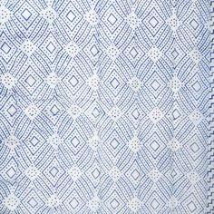 Indian patterns - geometric block print - Quilted Cotton Eiderdown - Single Bedspread - Kasakosa Home Decor