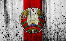 Download wallpapers Belarus national football team, 4k, logo, grunge, Europe, football, stone texture, soccer, Belarus, European national teams