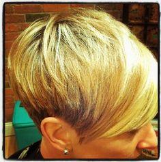 Super cute cut + color by Tina #shorthair #blonde #goldwell #kouklasalon
