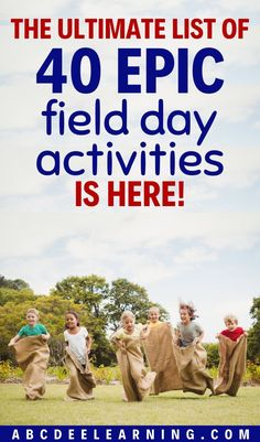 Struggling with ideas for field day? Check out my list of 40 easy to implement activities for your next field day!