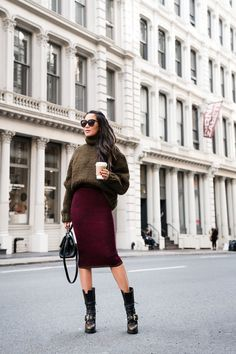 Sweater Weather :: Oversized sweater & Midi skirt - Wendy's LookbookWendy's Lookbook
