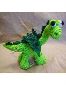 Dragon Amigurumi - Free Russian Pattern here: http://knitting-for-babies.ru/igrushki/brontozavrik-drakon