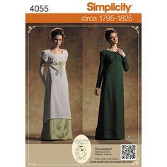 Simplicity Pattern 4055 Misses' Regency Era Costumes
