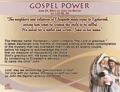 Gospel Power – Birth of John the Baptist