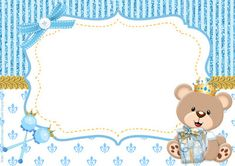 teddy bear prince kit for free print - Angelina Lopez Home Party Kit, Dibujos Baby Shower, Baby Shower Invitaciones, Baby Shawer, Bear Party, Baby Scrapbook, Free Prints, Baby Birthday, Baby Cards